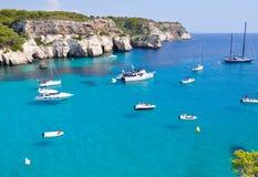 Opinión de la isla de Menorca Foto de archivo libre de regalías