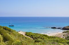 Opinión de la isla de Menorca Foto de archivo