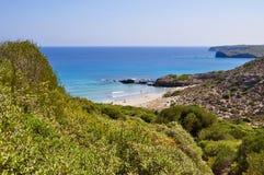 Opinión de la isla de Menorca Imagenes de archivo