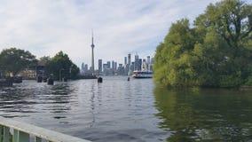 Opinión de la isla del centro de Toronto sobre Toronto céntrico Fotos de archivo libres de regalías