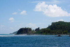 Opinión de la isla del océano imagenes de archivo