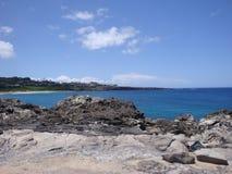 Opinión de la línea de la playa de Maui Fotos de archivo