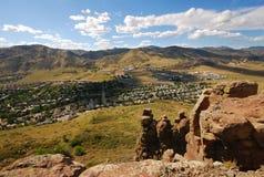 Opinión de la ladera de Colorado de oro Foto de archivo
