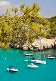 Opinión de la laguna de la isla de Menorca Fotografía de archivo