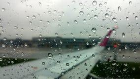 Opinión de la lluvia del aeroplano Foto de archivo libre de regalías