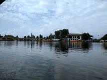 Opinión de la mañana de Dal Lake en Shrinagar, Cachemira, la India fotografía de archivo libre de regalías