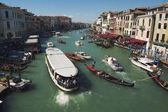 Opinión de la mañana de Grand Canal Venecia Foto de archivo libre de regalías