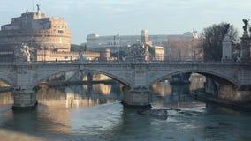 Opinión de la mañana de la ciudad de Roma, Italia almacen de video
