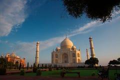 Opinión de la mañana de Taj Mahal Imagen de archivo libre de regalías