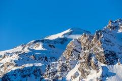 Opinión de la mañana del Grande Motte del La de la montaña Foto de archivo libre de regalías