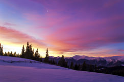 Opinión de la mañana del invierno Fotografía de archivo