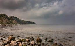 Opinión de la mañana del mar foto de archivo libre de regalías