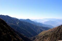 Opinión de la mañana en montaña Fotografía de archivo