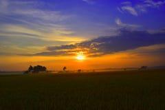 Opinión de la mañana, salida del sol Imagen de archivo libre de regalías