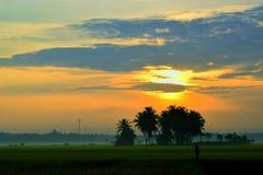 Opinión de la mañana, salida del sol II Imágenes de archivo libres de regalías