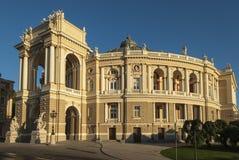 Opinión de la madrugada Odessa Opera House Imágenes de archivo libres de regalías