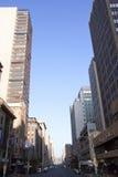 Opinión de la madrugada Smith Street, Durban Suráfrica Imagen de archivo