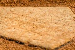 Opinión de la meta del béisbol Fotos de archivo libres de regalías