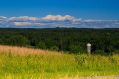 Opinión de la montaña y del valle en el condado de Saratoga NY Fotos de archivo