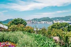 Opinión de la naturaleza de Glover Garden en Nagasaki, Japón Imágenes de archivo libres de regalías