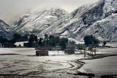 Opinión de la nieve   Fotografía de archivo