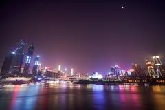 Opinión de la noche de la ciudad de Chongqing foto de archivo libre de regalías