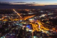 Opinión de la noche de Auckland Imagen de archivo libre de regalías