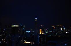 Opinión de la noche de Bangkok Imágenes de archivo libres de regalías