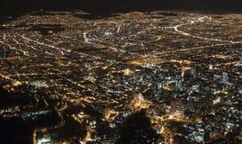 Opinión de la noche de Bogotá meridional Fotos de archivo libres de regalías