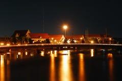 Opinión de la noche de Chiangmai fotografía de archivo libre de regalías