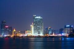 Opinión de la noche de China Xiamen Foto de archivo libre de regalías