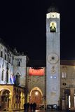 Opinión de la noche de Dubrovnik Foto de archivo libre de regalías