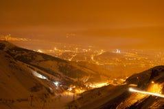 Opinión de la noche de Erzurum Imagenes de archivo