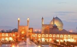 Opinión de la noche de Esfahan, Irán foto de archivo