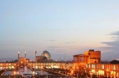 Opinión de la noche de Esfahan, Irán. imagen de archivo