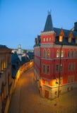 Opinión de la noche de Estocolmo Imágenes de archivo libres de regalías