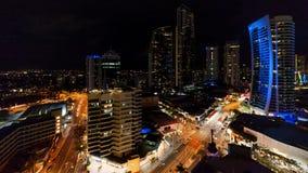 Opinión de la noche de Gold Coast fotografía de archivo libre de regalías