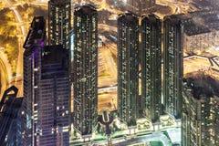 Opinión de la noche de Hong-Kong Imágenes de archivo libres de regalías