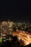 Opinión de la noche de Kragujevac Foto de archivo libre de regalías