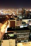 Opinión de la noche de la ciudad Foto de archivo libre de regalías