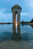 Opinión de la noche de la ciudad de Baku Fotografía de archivo