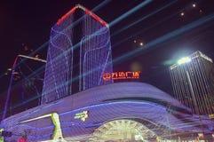Opinión de la noche de la ciudad de Kunmingl Foto de archivo libre de regalías