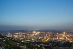 Opinión de la noche de la ciudad de Kunmingl Fotos de archivo libres de regalías