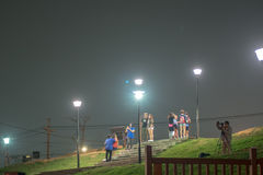 Opinión de la noche de la ciudad de Taichung imágenes de archivo libres de regalías