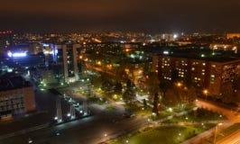 Opinión de la noche de la ciudad Izhevsk imagen de archivo libre de regalías