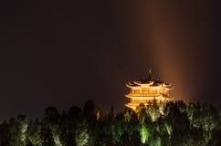 Opinión de la noche de la ciudad vieja de Lijiang, provincia de Yunnan, China Fotos de archivo