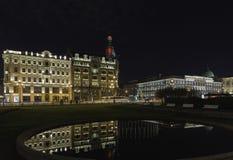Opinión de la noche de la perspectiva de Nevsky Imagenes de archivo