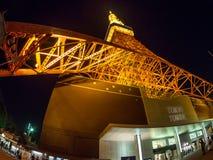 Opinión de la noche de la torre de Tokio, Japón imagen de archivo libre de regalías