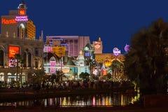 Opinión de la noche de Las Vegas Foto de archivo