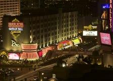 Opinión de la noche de Las Vegas de la ensambladura de la tira Fotografía de archivo